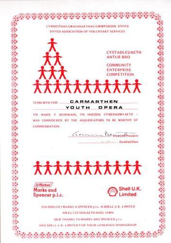 1987 Community Enterprise Award
